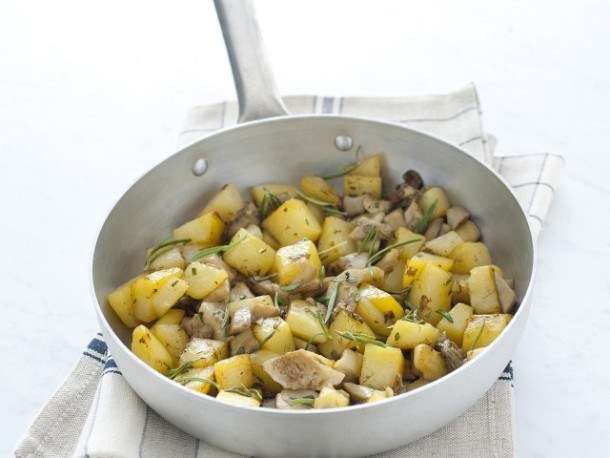 "Alt=""Vorrei Italian Fried Potatoes and Porcini Mushrooms"""