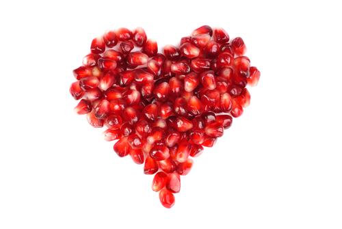 "Alt=""vorrei italian pomegranate seeds heart"""
