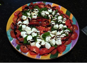 "Alt=""vorrei italian caprese salad with balsamic vinegar"""