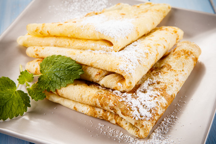 "Alt=""vorrei italian crepe with fig syrup"""