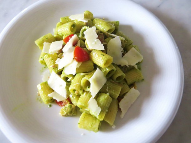 "Alt=""vorrei italian creamy pesto and chicken pesto pasta recipe"""