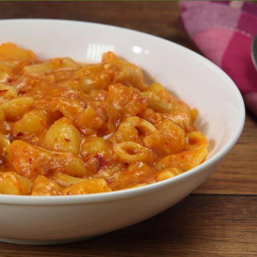 pasta patate and nduja