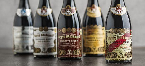 Set of balsamic vinegars